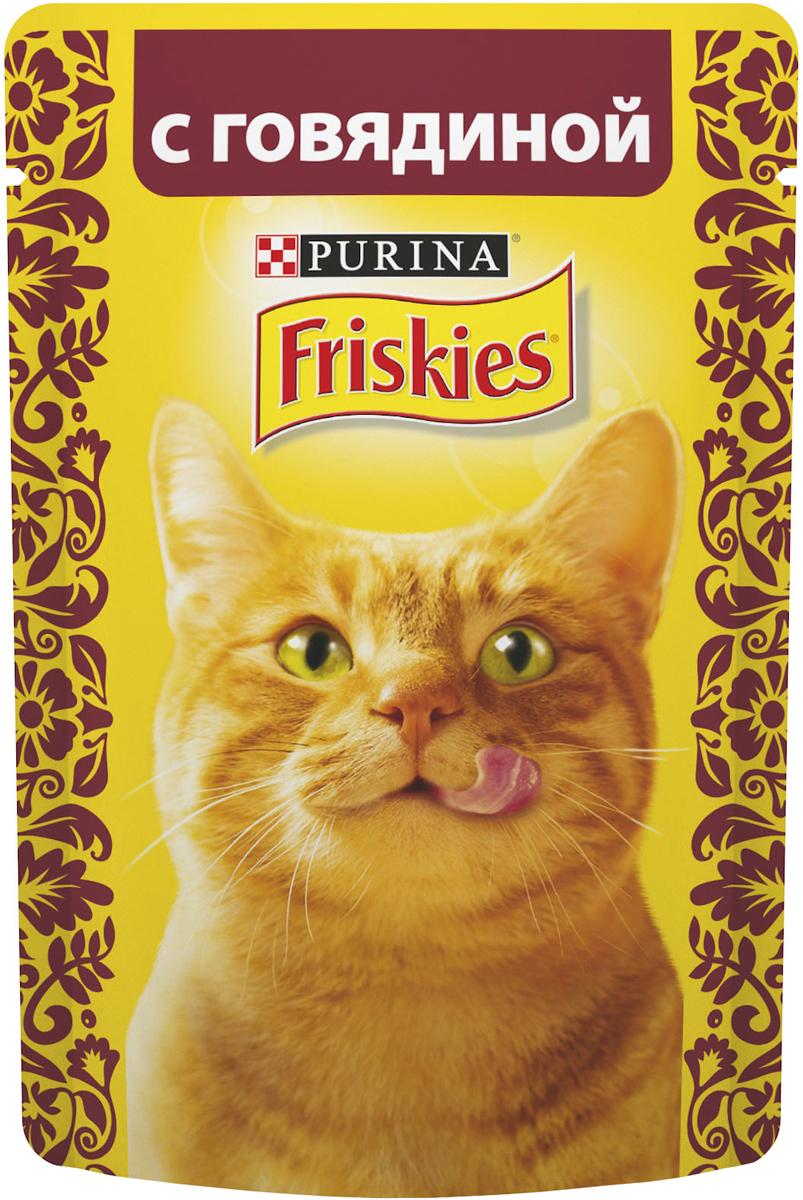"""Консервы для кошек """"Friskies"""", с говядиной, 85 г"""