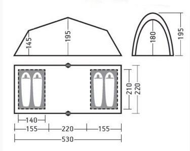 Палаткаавтомат Greenell Виржиния 4 квик цвет  коричневый