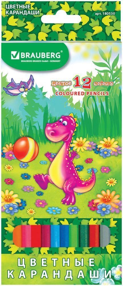 Brauberg Набор цветных карандашей Динозаврик-футболист 12 цветов 180530 набор портативной посуды fire maple fmc 204