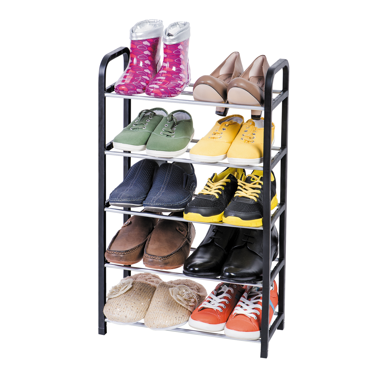 Этажерка для обуви Art Moon Labrador, 5-секционная, цвет: черный, 42 х 19 х 70 см этажерка альтернатива плетенка 3 секционная цвет белый 52 см х 30 см х 57 5 см