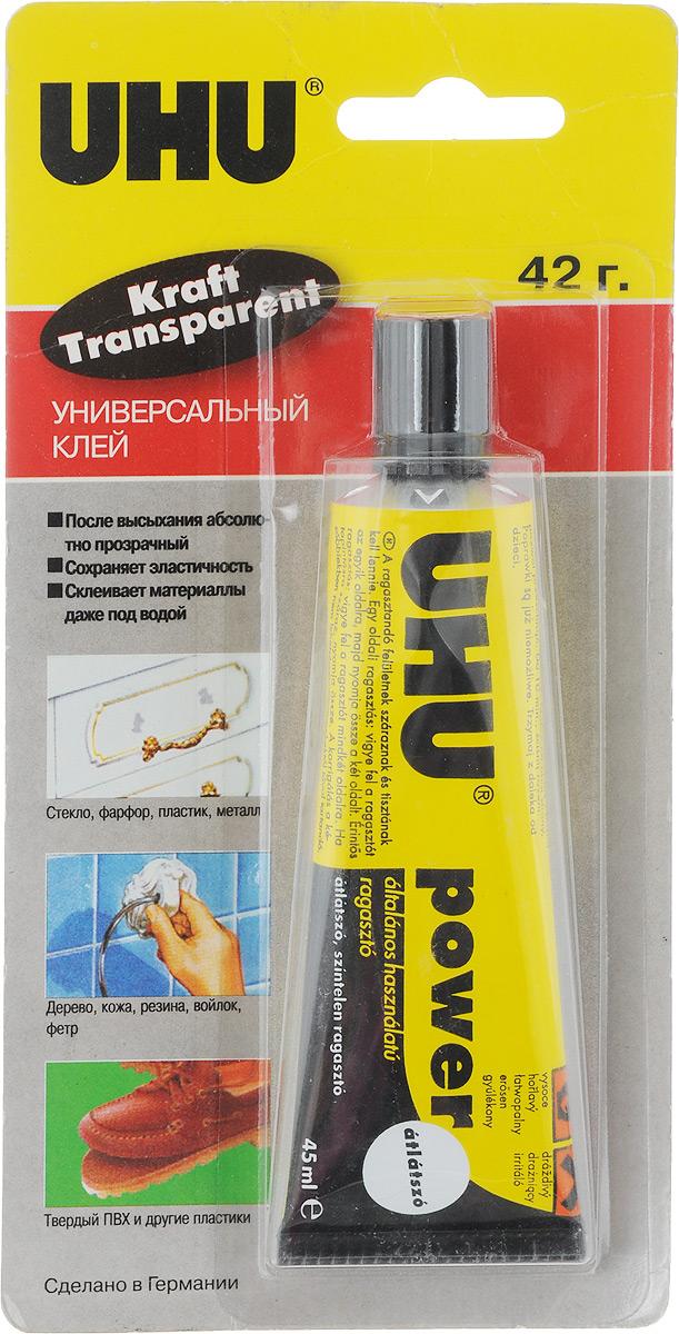 купить UHU Клей универсальный Kraft Power Transparent 45 мл по цене 278 рублей