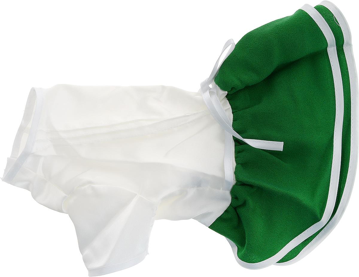 """Платье для собак GLG """"Летнее ассорти"""", цвет: зеленый. Размер S"""