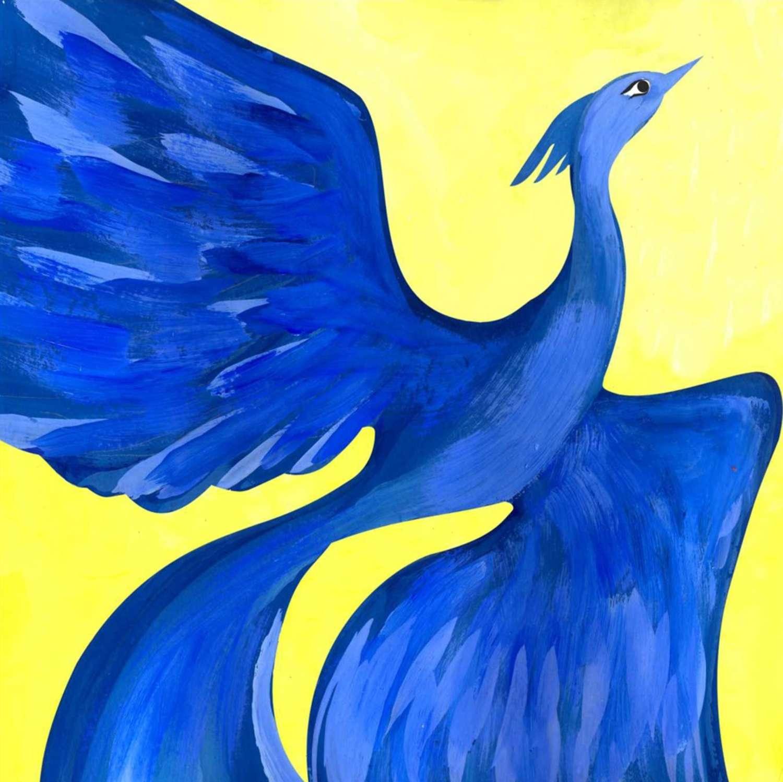 Синяя птица детские рисунки