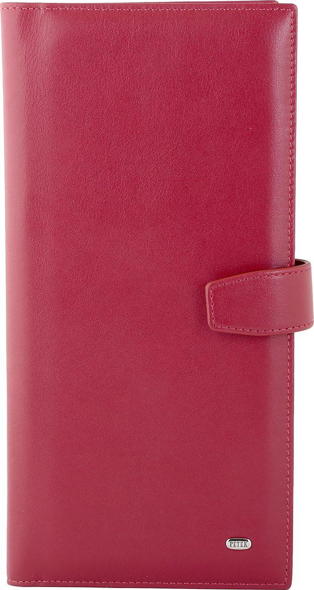 цена Визитница женская Petek 1855, цвет: красный. 1081.4000.10 онлайн в 2017 году