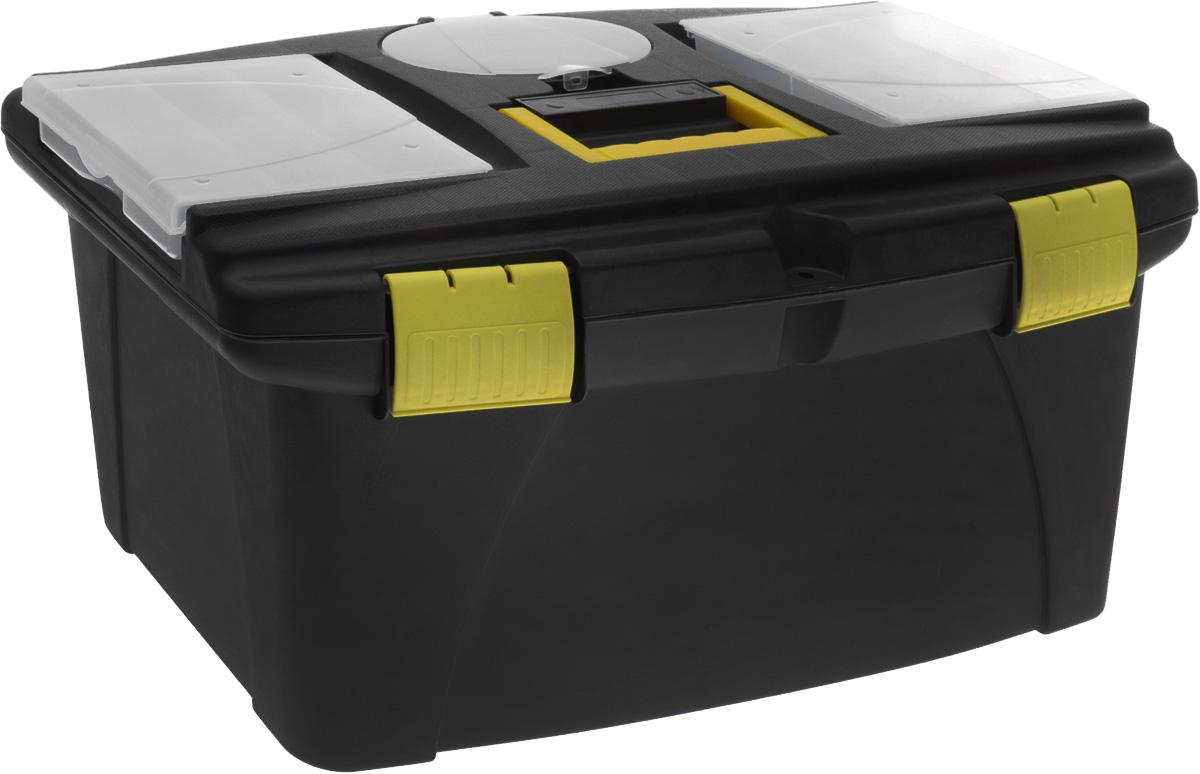 Ящик для инструментов пластиковый FIT, 56,5 см х 32,5 см х 29 см ящик универсальный альтернатива раскладной цвет в ассортименте 38 5 х 25 5 х 21 см