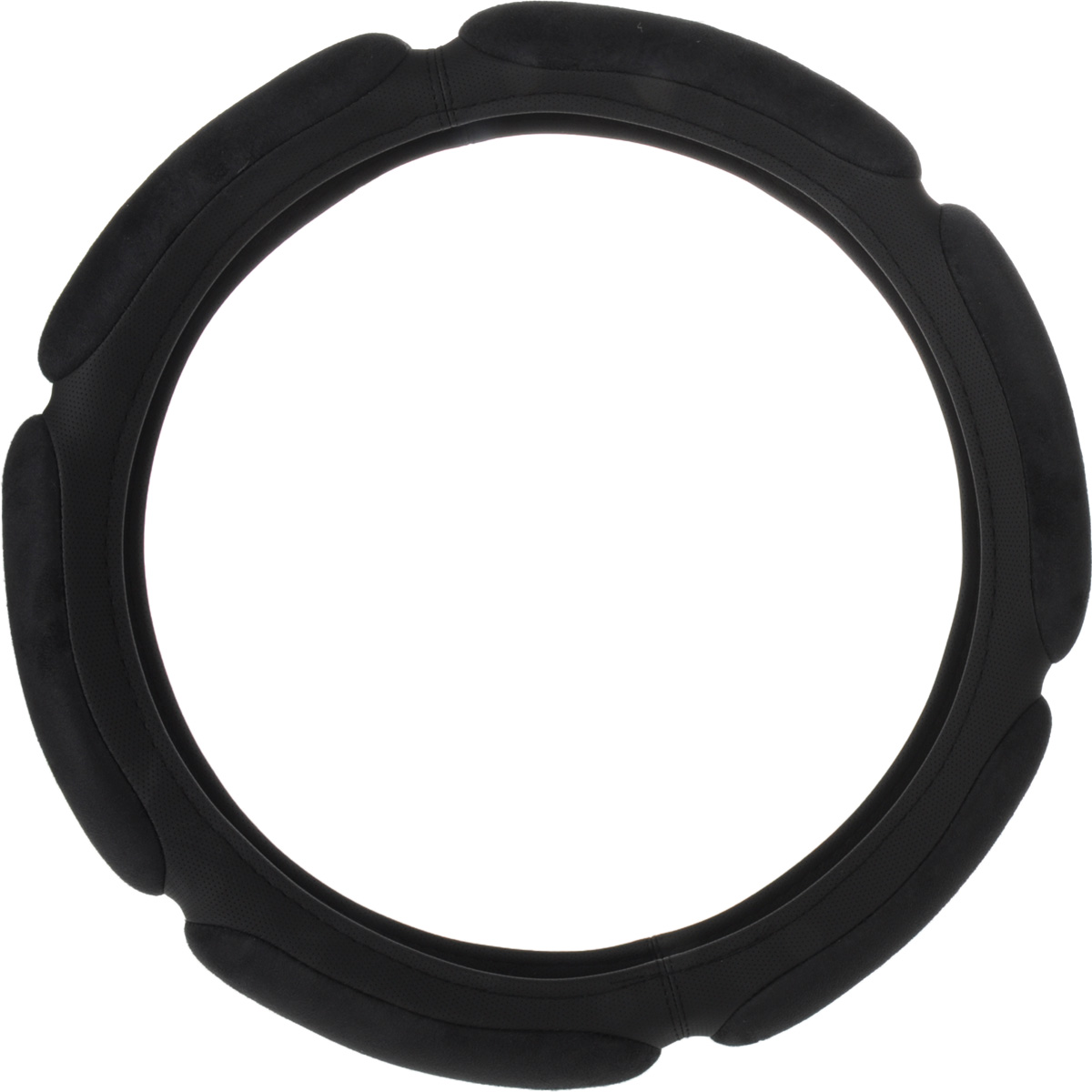 Оплетка руля Autoprofi Sponge SP-5026, 6 подушечек, наполнитель: поролон, цвет: черный. Размер L (39-41 см) оплетка руля autoprofi экокожа размер м черная