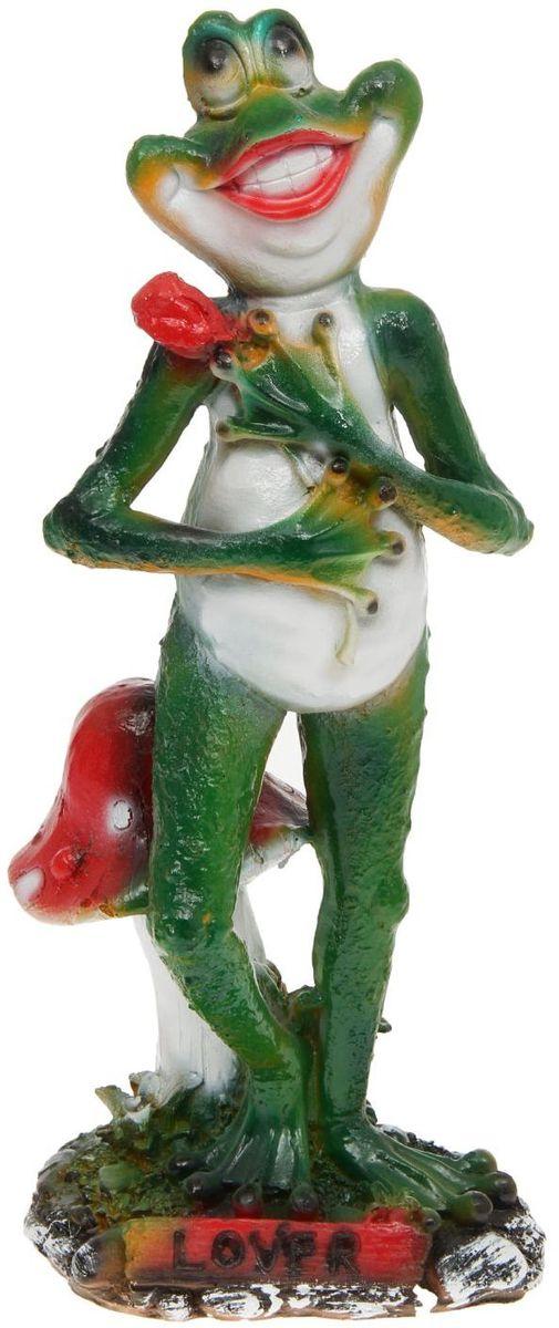 Фигура садовая Влюбленная лягушка, 14 х 19 х 48 см садовая техника кайман