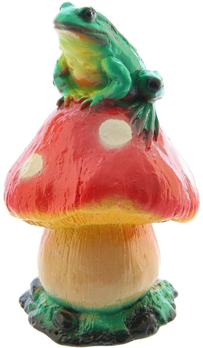 Фигура садовая Premium Gips Жаба на грибе, 14 х 14 х 23 см садовая фигура gloria garden жаба в камышах 26 5 17 5 26 5 см