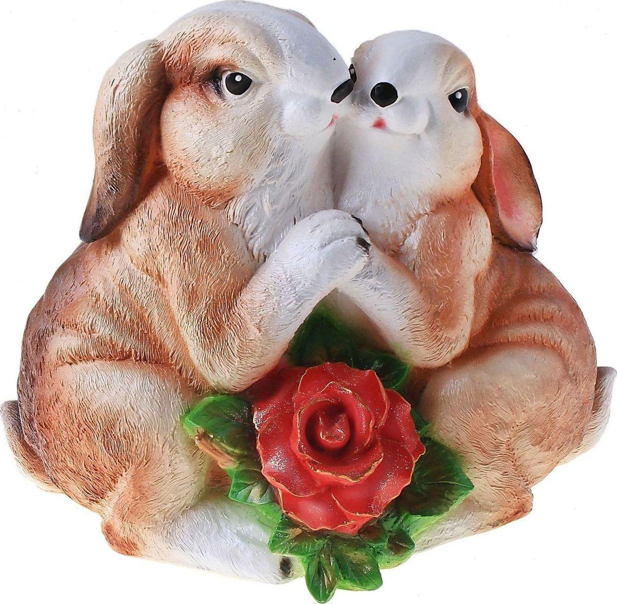 """Фигура садовая """"Парочка зайцев"""", 29 х 16 х 25 см"""