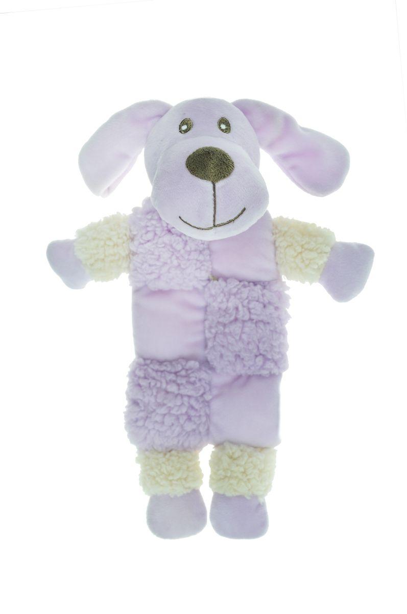 """Игрушка для собак Aromadog """"Собачка"""", с 3 пищалками, цвет: сиреневый, 20 см"""