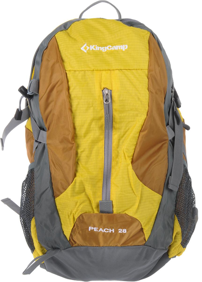 Рюкзак городской KingCamp Peach 28L, цвет: желтый рюкзак городской kingcamp peach 28l цвет красный серый