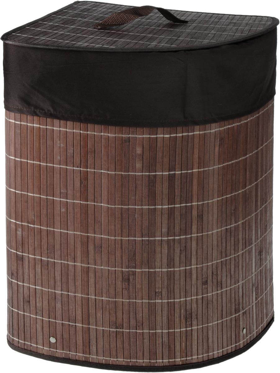 Корзина для белья Athena, угловая, 35 х 35 х 50 см корзина для белья tatkraft monako угловая цвет коричневый 35 см х 35 см х 50 см