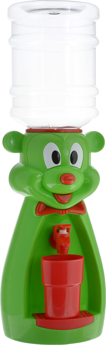 Кулер для воды Vatten Kids Mouse, Green Red, со стаканчиком кулер для воды vatten kids mouse green red со стаканчиком
