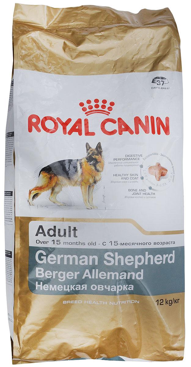 "Корм сухой Royal Canin ""German Shepherd Adult"", для собак породы немецкая овчарка старге 15 месяцев, 12 кг"