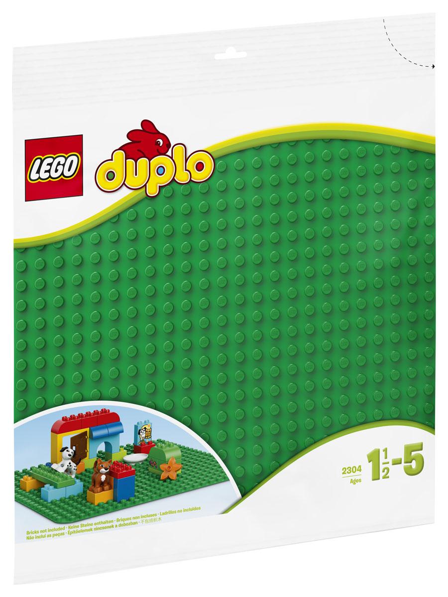 LEGO DUPLO 2304 Строительная пластина 38х38 цвет зеленый Конструктор lego classic 10700 строительная пластина 32х32 выступа цвет зеленый конструктор