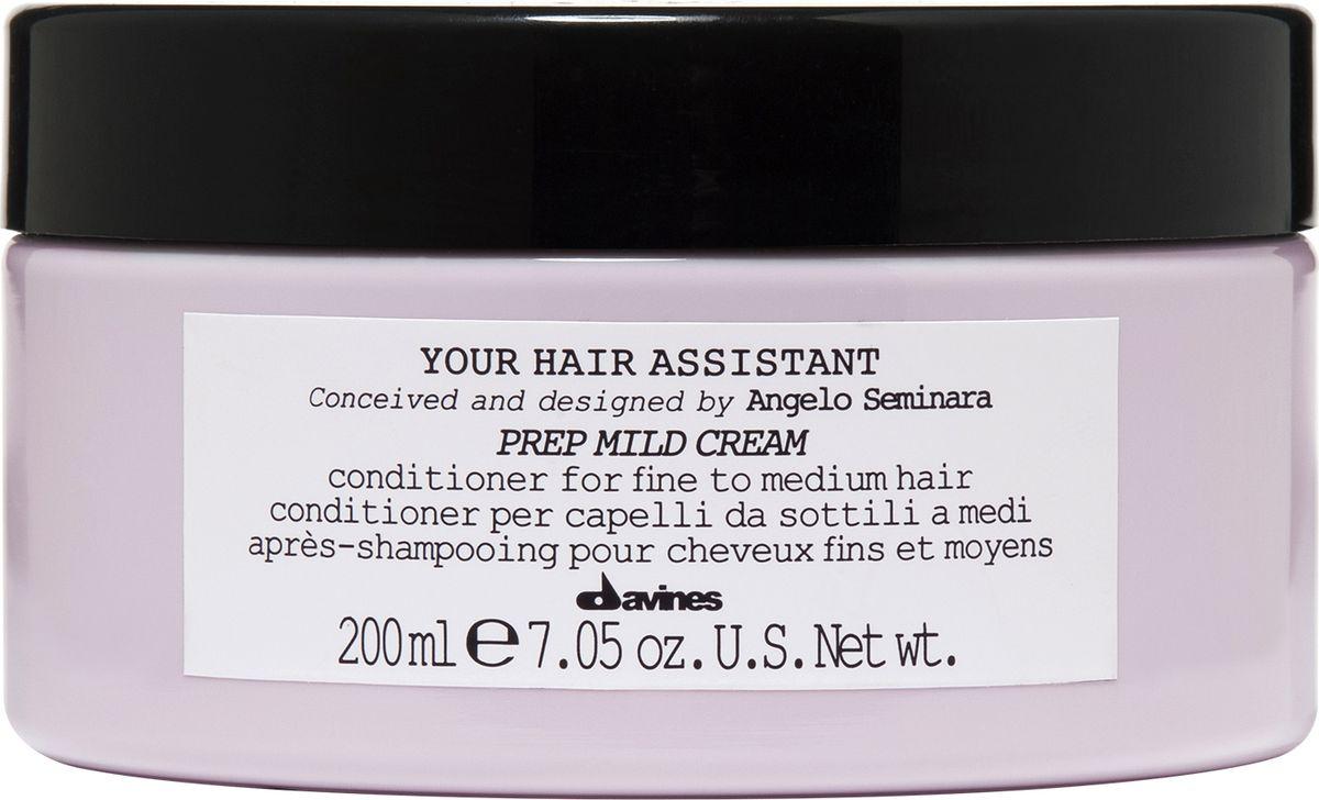 Davines Your Hair Assistant Prep Mild Cream Мягкий кондиционер для подготовки волос к укладке для тонких и нормальных волос, 200 мл davines мягкий кондиционер для подготовки волос к укладке 200 мл