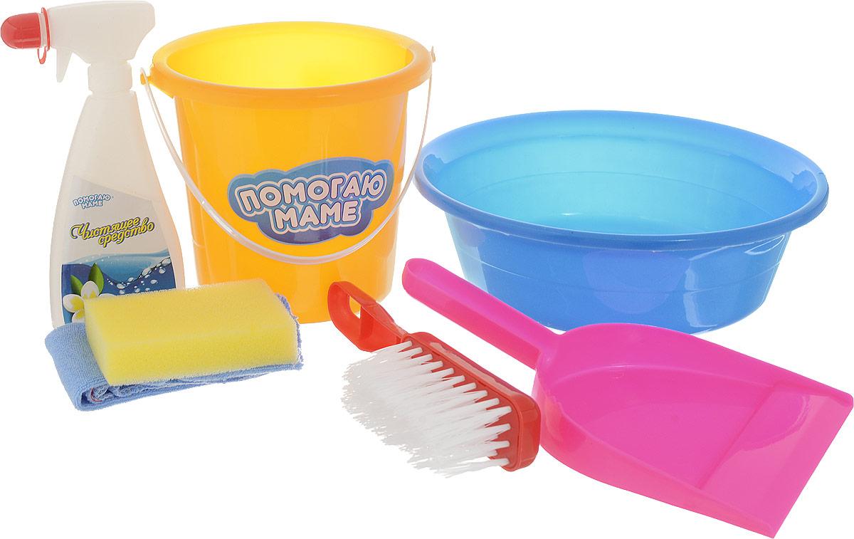 Игровой набор для уборки ABtoys, цвет в ассортименте, 7 предметов
