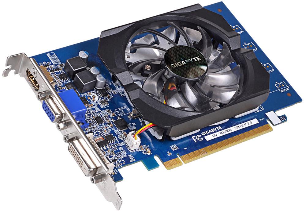 Видеокарта Gigabyte GeForce GT 730 2GB (GV-N730D5-2GI)