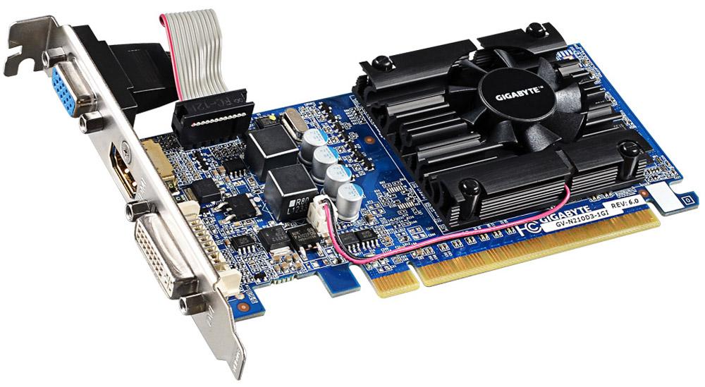 Видеокарта Gigabyte GeForce 210 1GB, GV-N210D3-1GI компьютер игровой