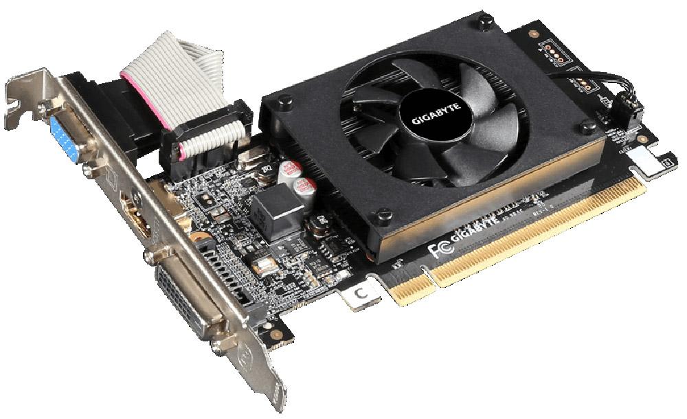 Видеокарта Gigabyte GeForce GT 710 2GB, GV-N710D3-2GL компьютер игровой