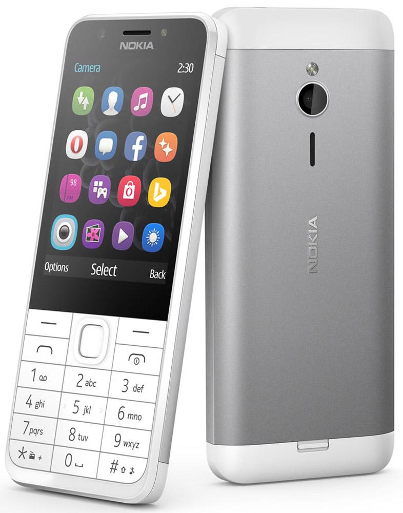 9d9b7f9500278 Мобильный телефон Nokia 230 Dual Sim, белый, серебристый — купить в  интернет-магазине OZON с быстрой доставкой