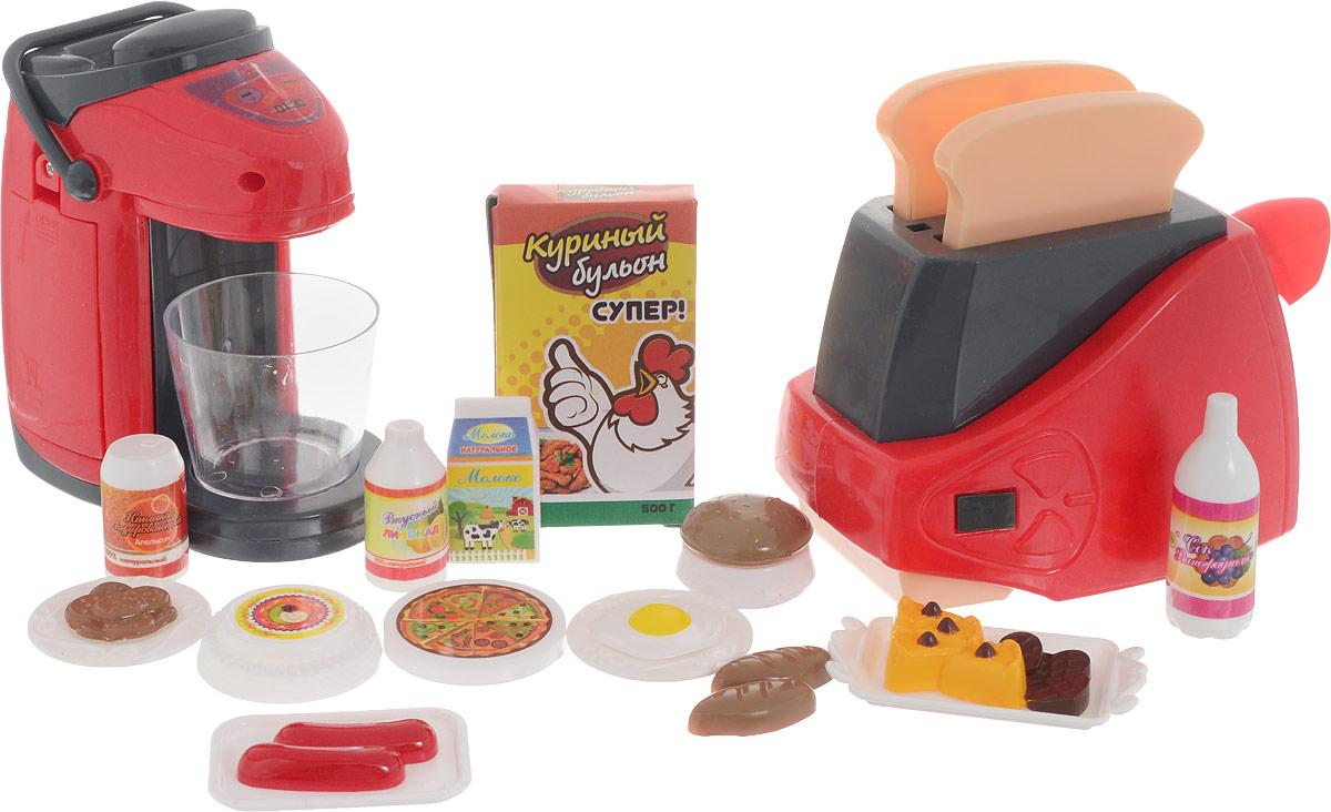 ABtoys Игровой набор Кухонная техника с продуктами PT-00661