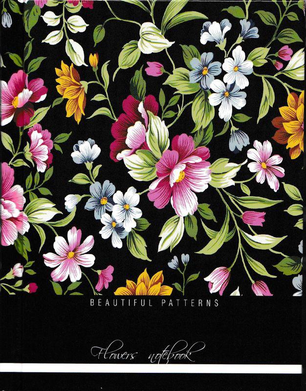 Бриз Блокнот Цветочный принт 160 листов в клетку цена в Москве и Питере