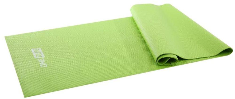 Коврик для йоги OneRun, цвет: зеленый, 173 х 61 см коврик для йоги onerun цвет фиолетовый 183 х 61 х 0 4 см