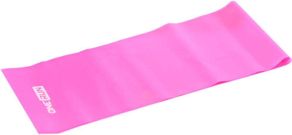 Эспандер-лента OneRun, цвет: розовый, 12 х 120 см гантель неопреновая onerun цвет розовый 0 5 кг