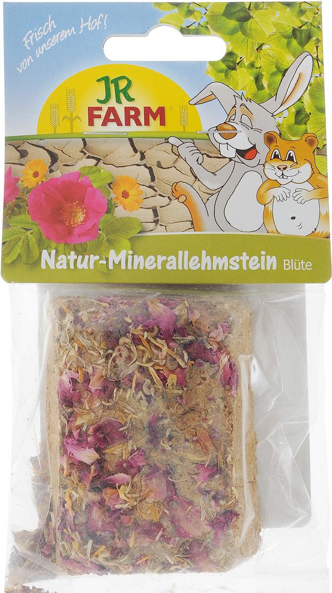 Натуральный минеральный суглинистый камень для грызунов JR Farm, с цветками, 100 г цена