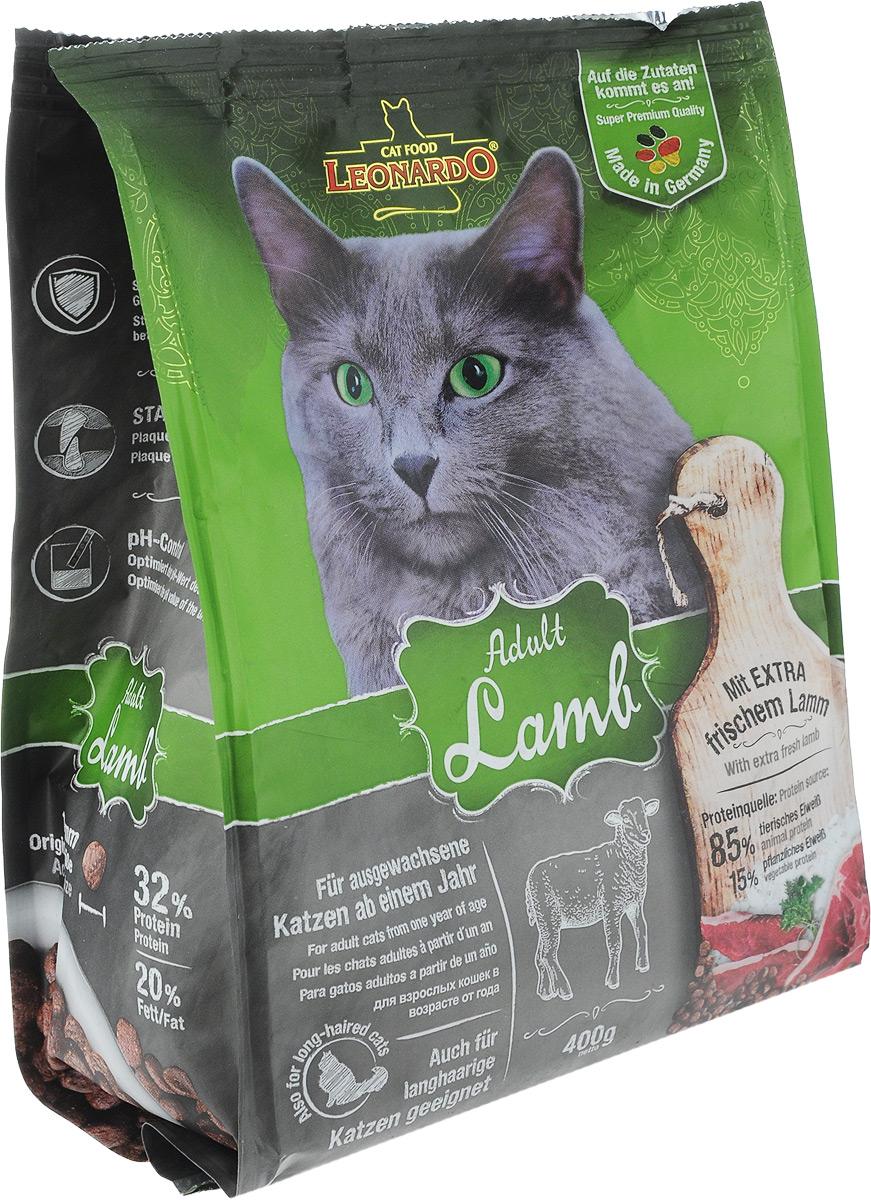 """Корм сухой Leonardo """"Adult Sensetive"""" для взрослых кошек от 1 года, на основе ягненка и риса, 400 г"""