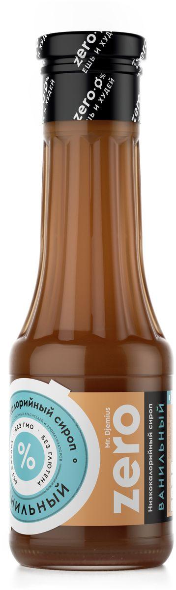Mr. Djemius zero низкокалорийный сироп ванильный, 330 г золотое утро сироп для кофе классический 340 г
