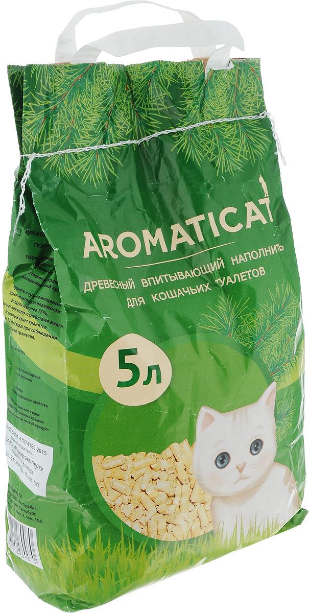 Наполнитель для кошачьего туалета Aromaticat, древесный, 5 л наполнитель для кошачьего туалета vitaline из лиственных пород древесины 4 5 л