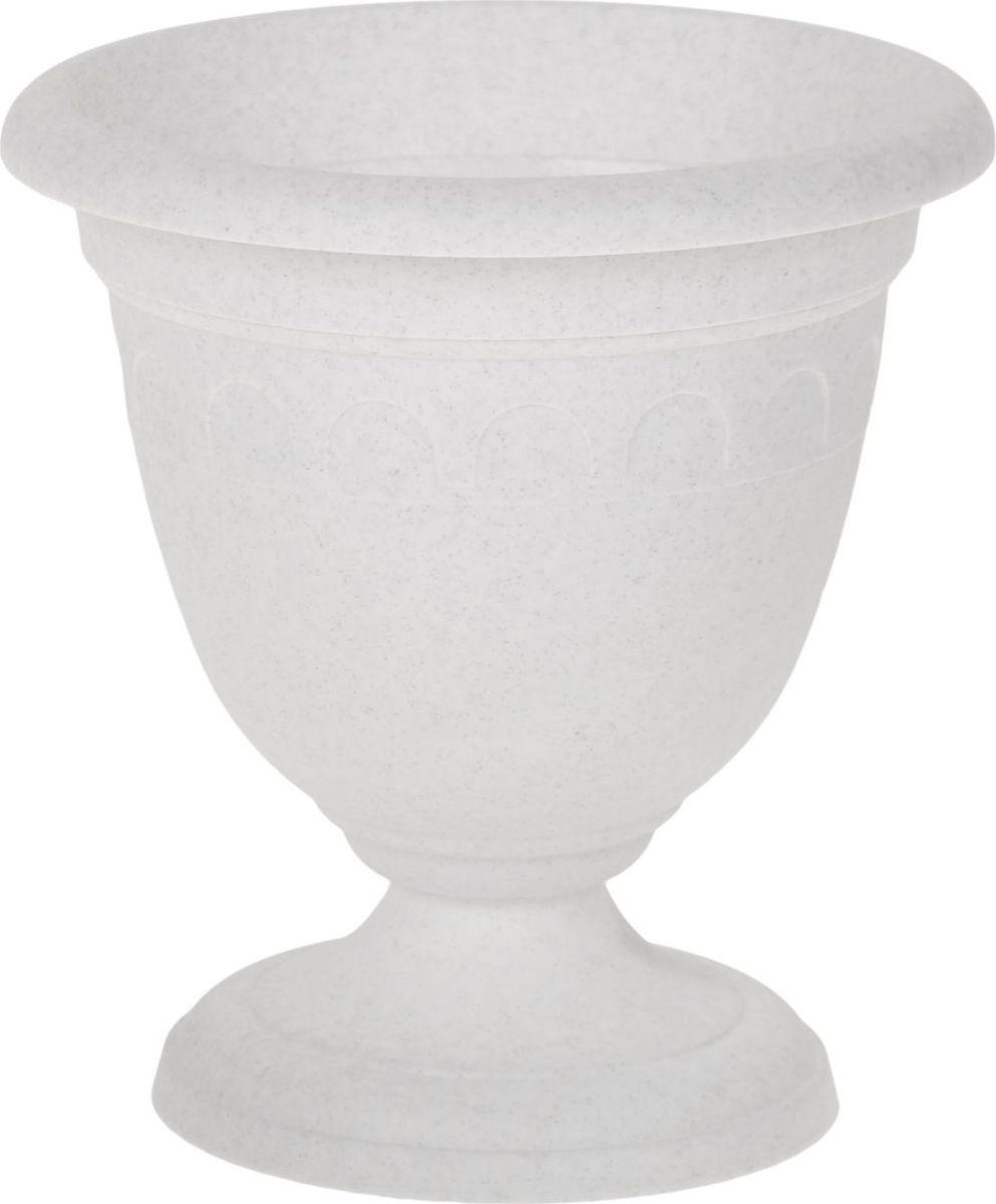 Вазон Martika Колывань, цвет: мрамор, 3 л вазон martika колывань цвет мрамор 8 1 л
