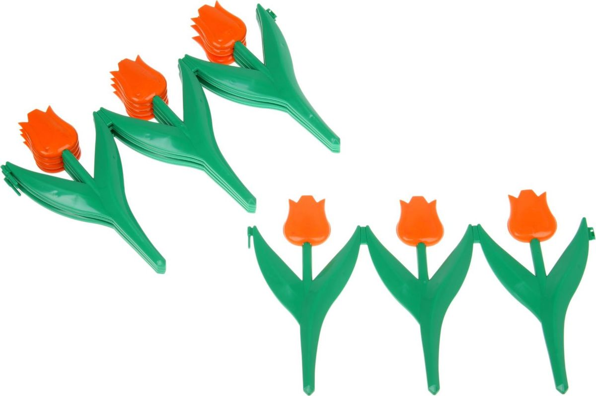 Ограждение садовое декоративное Кострома Пластик Тюльпан, 5 секций, 30 х 225 см цена