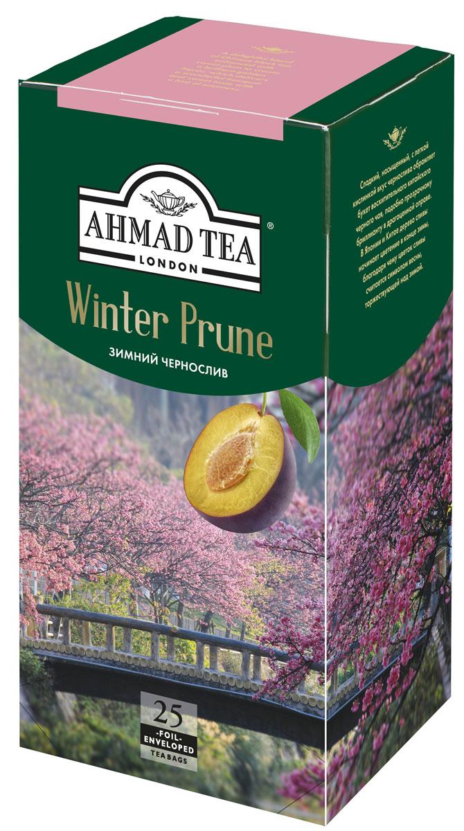 Ahmad Tea Winter Prune черный чай в фольгированных пакетиках, 25 шт