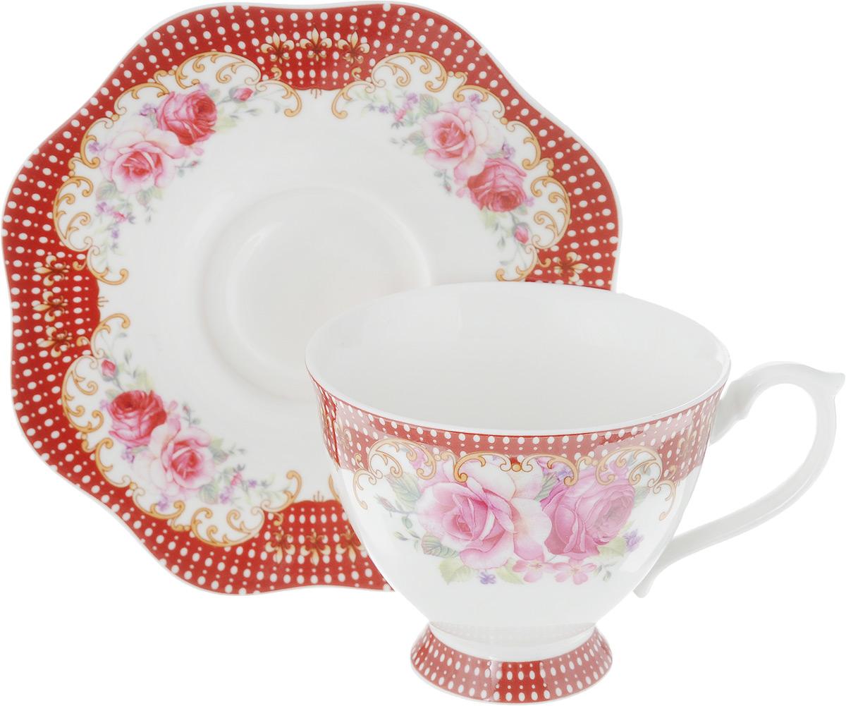 Фото - Чайная пара Loraine, 2 предмета. 26628 [супермаркет] jingdong геб scybe фил приблизительно круглая чашка установлена в вертикальном положении стеклянной чашки 290мла 6 z