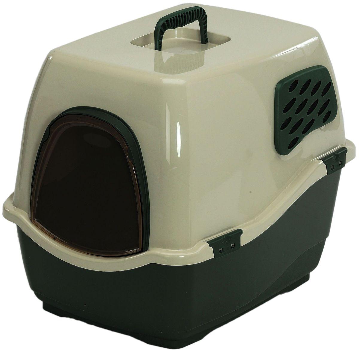 Био-туалет для кошек Marchioro Bill 1F, цвет: зеленый, бежевый, 50 х 40 х 42 см цена