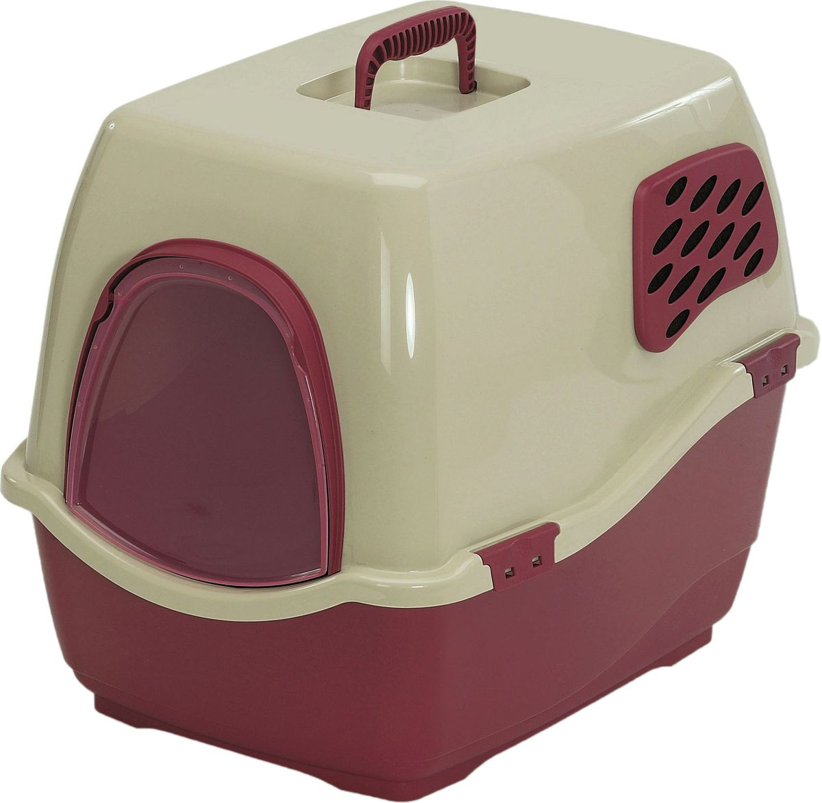 Био-туалет для животных Marchioro Bill 1F, цвет: коричневый, бежевый, 50 х 40 х 42 см переноска marchioro skipper 1f цвет малиновый бежевый 48 х 32 х 31 см с металлической дверцей
