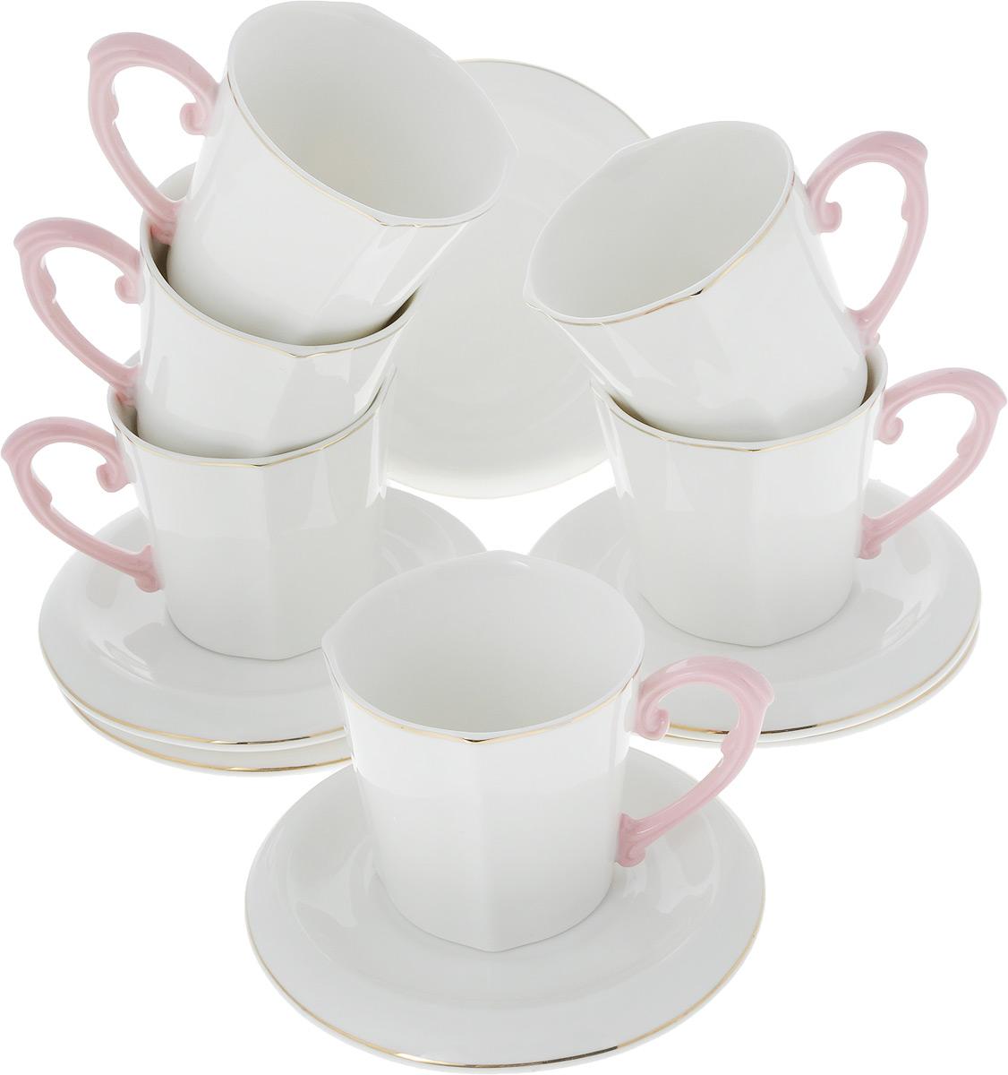 Фото - Сервиз чайный Loraine Нежность, 12 предметов. 26644 [супермаркет] jingdong геб scybe фил приблизительно круглая чашка установлена в вертикальном положении стеклянной чашки 290мла 6 z