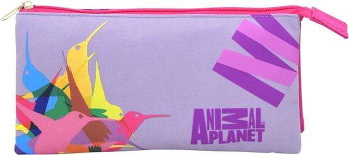 Action! Пенал Animal Planet Колибри цвет розовый фиолетовый action пенал тубус tatty teddy цвет розовый голубой
