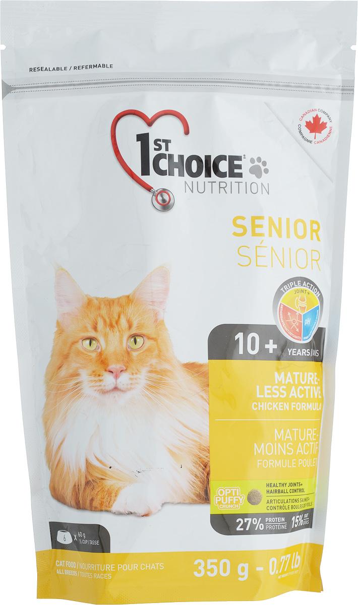 Корм сухой 1st Choice для пожилых или малоактивных кошек, с курицей, 350 г корм 1st choice для кошек