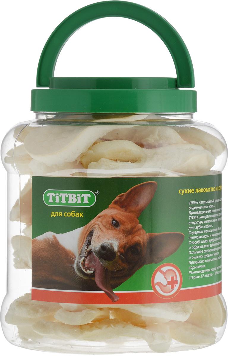 Лакомство для собак Titbit, говяжьи чипсы, 4,3 л титбит лакомство сухожилия говяжьи большие для собак titbit dent 1 уп