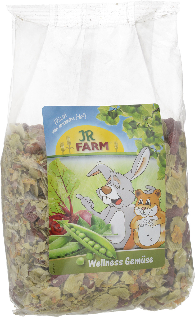 Лакомство для грызунов JR Farm Овощные хлопья, 600 г цена