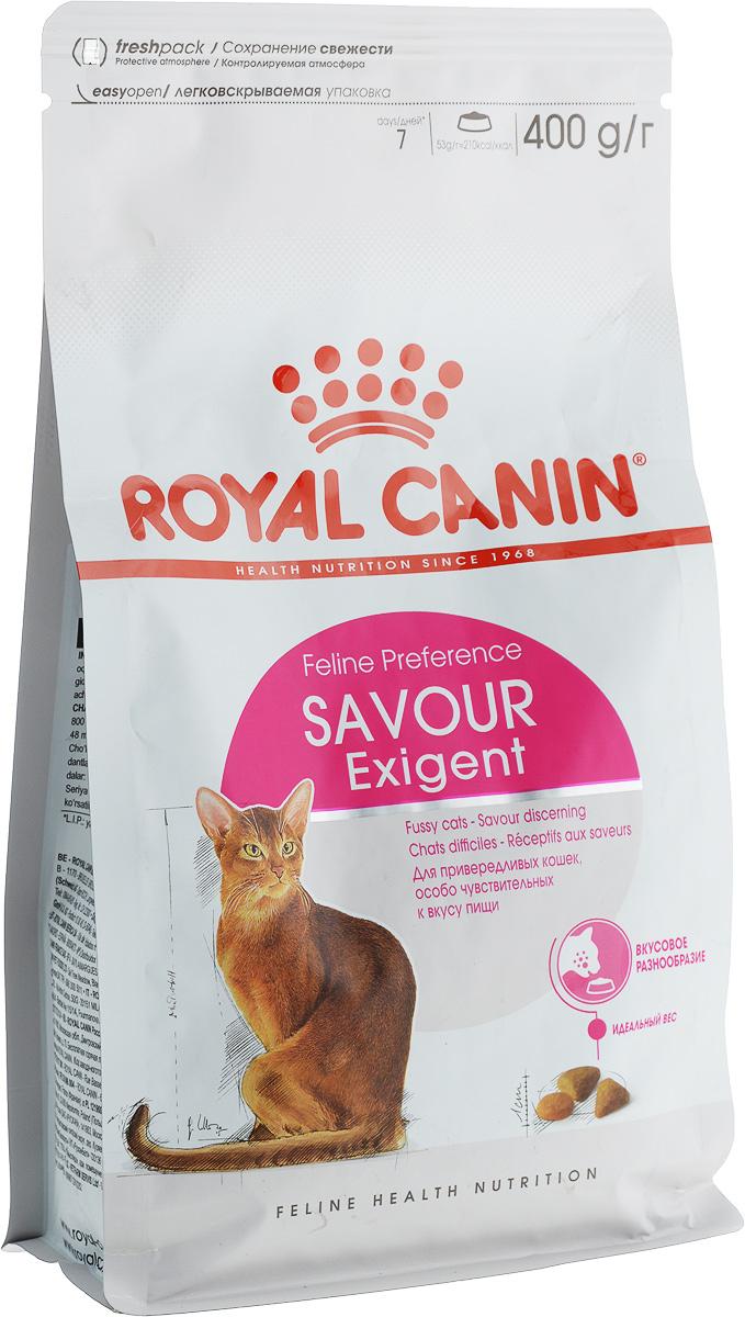 Корм сухой Royal Canin Exigent 35/30 Savoir Sensation, для привередливых кошек, 400 г корм royal canin exigent 35 30 400g для очень привередливых кошек 682004 682104