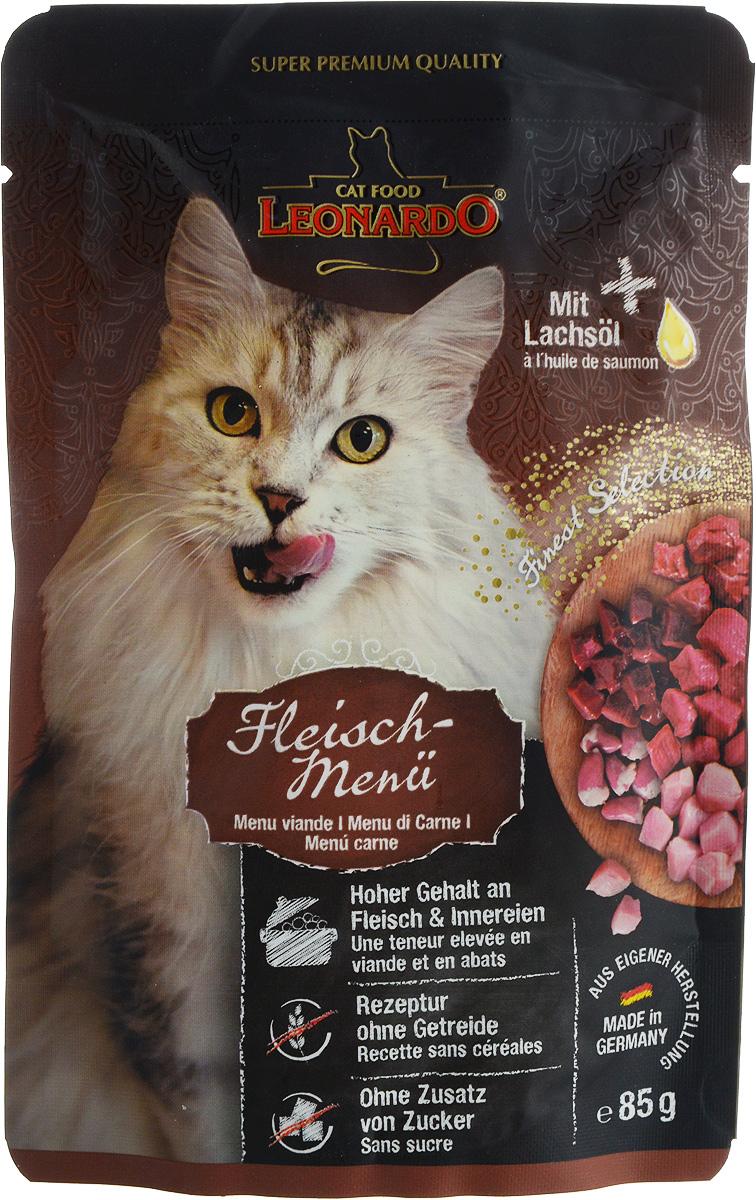 """Консервы """"Leonardo"""" для взрослых кошек, с мясом, 85 г"""