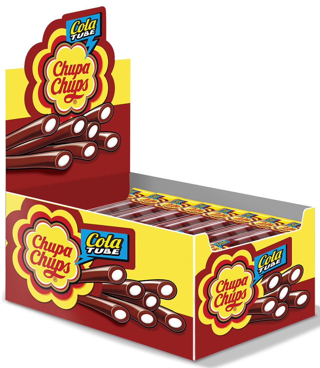 """Chupa-Chups """"Cola Tube"""" жевательный мармелад со вкусом колы, 50 шт по 10 г"""