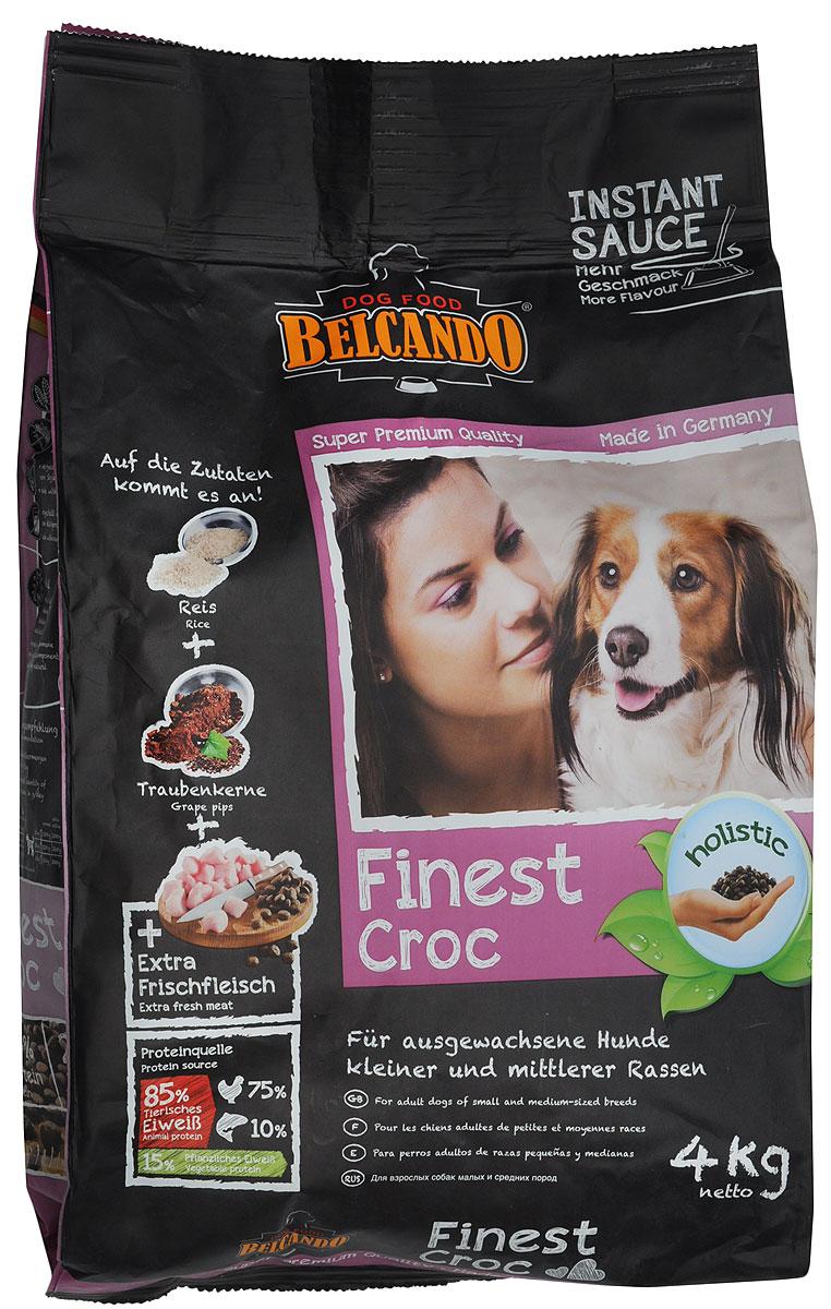 """Корм сухой Belcando """"Finest Croc"""", для привередливых собак мелких и средних пород, с уткой и печенью, 4 кг"""