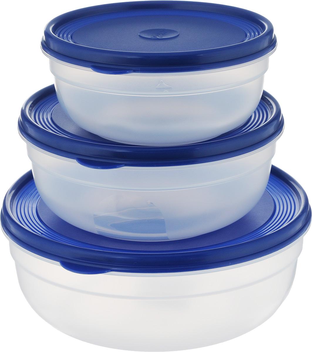 Набор контейнеров Emsa Superline, 3 шт. 517097 контейнер для торта emsa superline с охлаждающим элементом цвет голубой 2 л