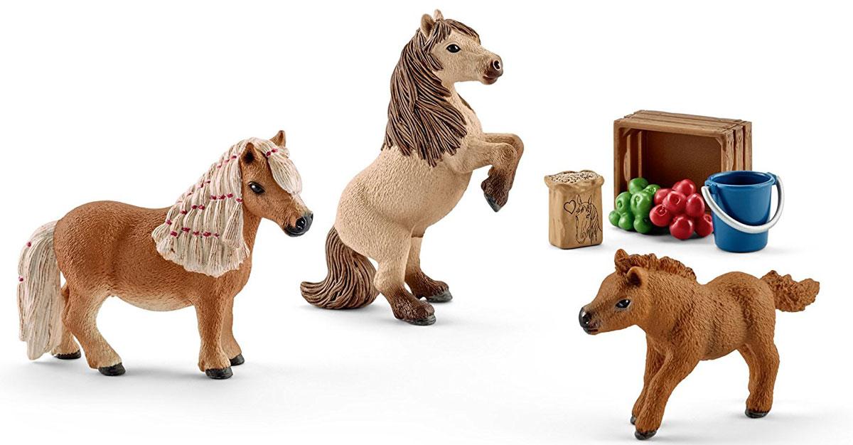 Schleich Набор фигурок Семья Шотландского пони 3 шт schleich конюх и исландский пони